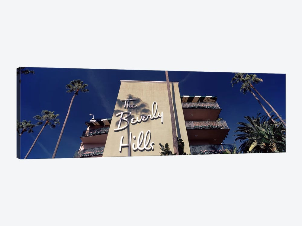 Low angle view of a hotel, Beverly Hills Hotel, Beverly Hills, Los Angeles County, California, USA by Panoramic Images 1-piece Canvas Print