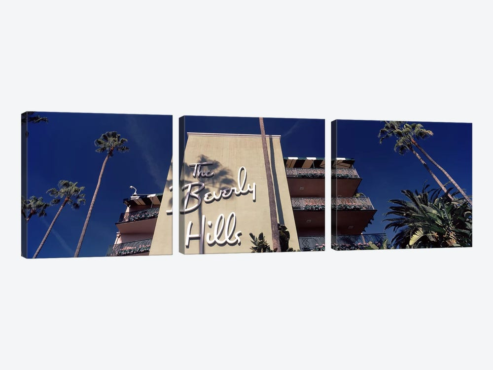 Low angle view of a hotel, Beverly Hills Hotel, Beverly Hills, Los Angeles County, California, USA by Panoramic Images 3-piece Art Print