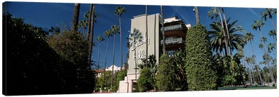Trees in front of a hotel, Beverly Hills Hotel, Beverly Hills, Los Angeles County, California, USA Canvas Print #PIM8266