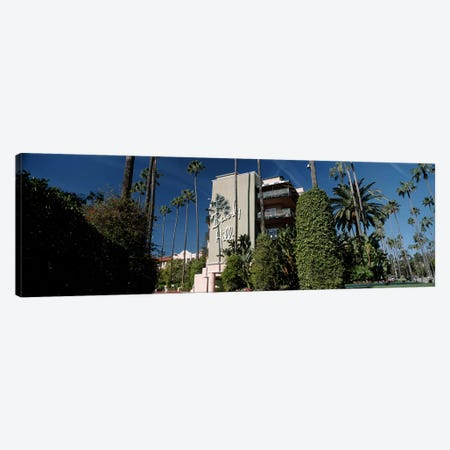 Trees in front of a hotel, Beverly Hills Hotel, Beverly Hills, Los Angeles County, California, USA Canvas Print #PIM8266} by Panoramic Images Canvas Art