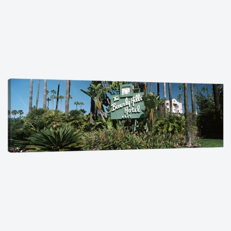 Signboard of a hotel, Beverly Hills Hotel, Beverly Hills, Los Angeles County, California, USA Canvas Print #PIM8267} by Panoramic Images Canvas Artwork