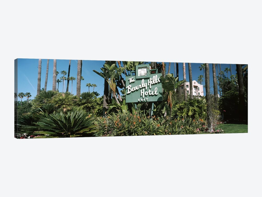 Signboard of a hotel, Beverly Hills Hotel, Beverly Hills, Los Angeles County, California, USA by Panoramic Images 1-piece Canvas Art Print