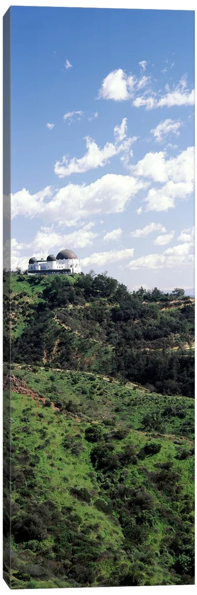 Observatory on a hill, Griffith Park Observatory, Los Angeles, California, USA Canvas Art Print