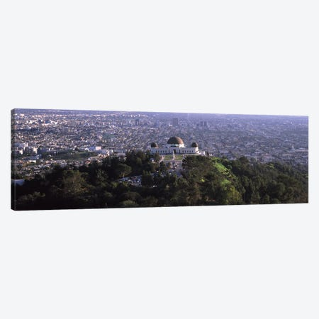 Observatory on a hill with cityscape in the background, Griffith Park Observatory, Los Angeles, California, USA 2010 Canvas Print #PIM8269} by Panoramic Images Canvas Print