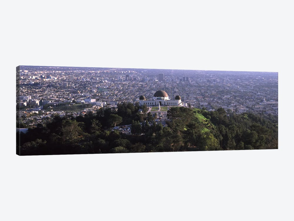 Observatory on a hill with cityscape in the background, Griffith Park Observatory, Los Angeles, California, USA 2010 by Panoramic Images 1-piece Art Print