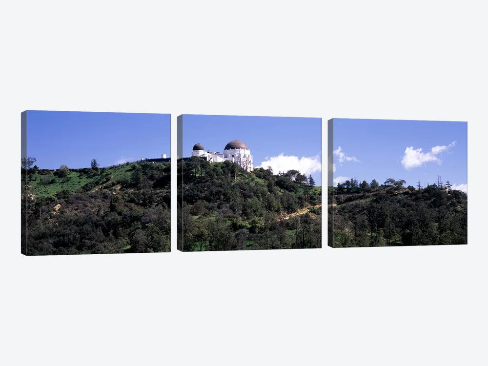 Observatory on a hill, Griffith Park Observatory, Los Angeles, California, USA #2 by Panoramic Images 3-piece Canvas Art Print