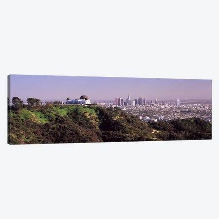 Observatory on a hill with cityscape in the background, Griffith Park Observatory, Los Angeles, California, USA 2010 #2 Canvas Print #PIM8271} by Panoramic Images Canvas Artwork