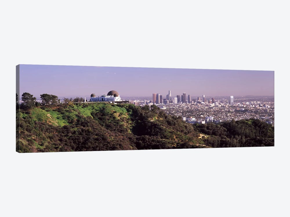 Observatory on a hill with cityscape in the background, Griffith Park Observatory, Los Angeles, California, USA 2010 #2 by Panoramic Images 1-piece Canvas Artwork