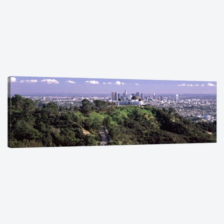 Observatory on a hill with cityscape in the background, Griffith Park Observatory, Los Angeles, California, USA 2010 #3 Canvas Print #PIM8272} by Panoramic Images Canvas Art