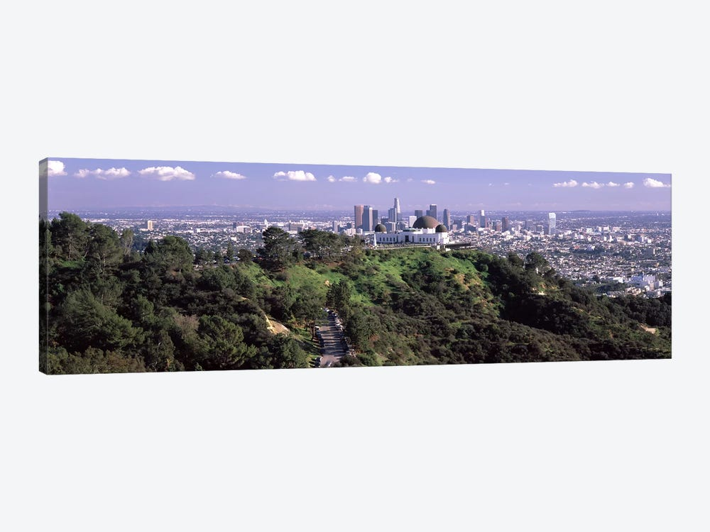 Observatory on a hill with cityscape in the background, Griffith Park Observatory, Los Angeles, California, USA 2010 #3 by Panoramic Images 1-piece Canvas Art Print