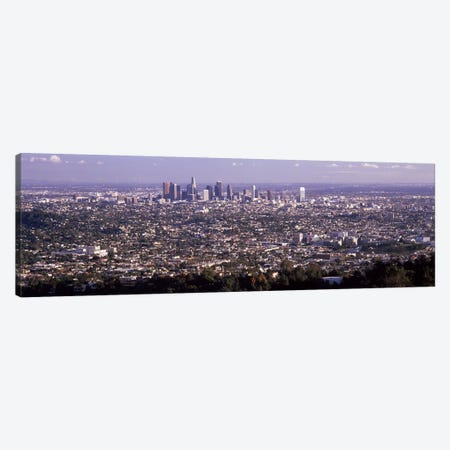Aerial view of a cityscape, Los Angeles, California, USA 2010 Canvas Print #PIM8273} by Panoramic Images Canvas Art
