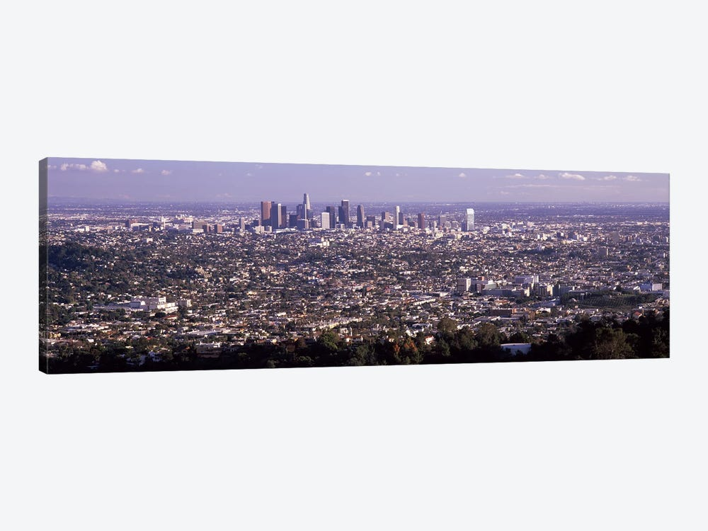 Aerial view of a cityscape, Los Angeles, California, USA 2010 by Panoramic Images 1-piece Canvas Art