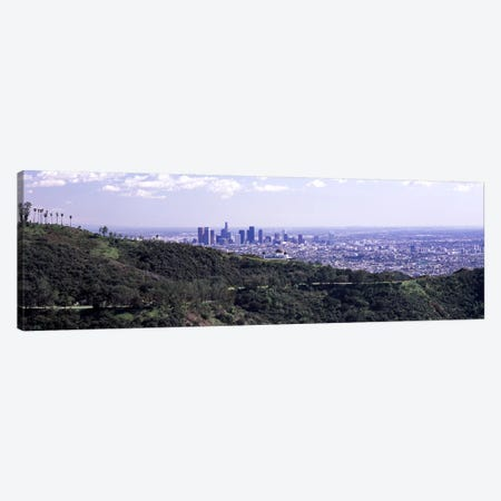 Aerial view of a cityscape, Griffith Park Observatory, Los Angeles, California, USA 2010 Canvas Print #PIM8274} by Panoramic Images Canvas Print