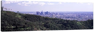 Aerial view of a cityscape, Griffith Park Observatory, Los Angeles, California, USA 2010 Canvas Print #PIM8274