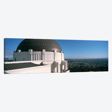 Observatory with cityscape in the background, Griffith Park Observatory, Los Angeles, California, USA 2010 Canvas Print #PIM8275} by Panoramic Images Canvas Print