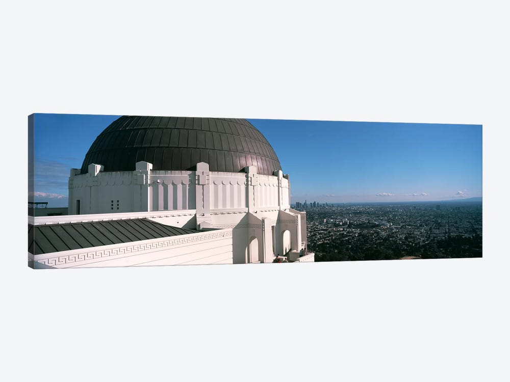 Observatory with cityscape in the background, Griffith Park Observatory, Los Angeles, California, USA 2010 by Panoramic Images 1-piece Canvas Artwork