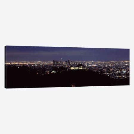 Aerial view of a cityscape, Griffith Park Observatory, Los Angeles, California, USA 2010 #2 Canvas Print #PIM8276} by Panoramic Images Canvas Print
