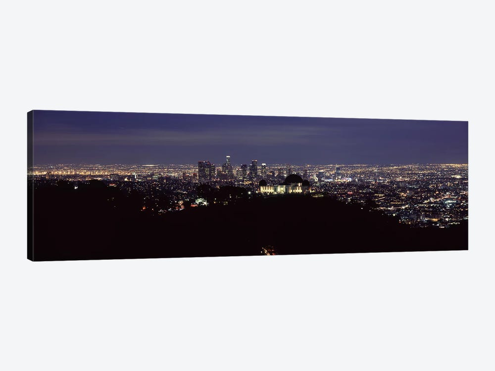 Aerial view of a cityscape, Griffith Park Observatory, Los Angeles, California, USA 2010 #2 by Panoramic Images 1-piece Canvas Art Print