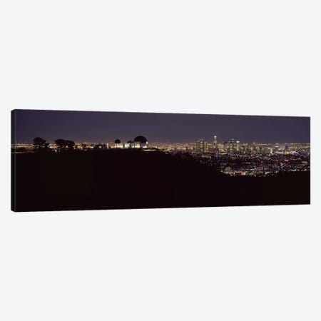 City lit up at night, Griffith Park Observatory, Los Angeles, California, USA 2010 Canvas Print #PIM8277} by Panoramic Images Canvas Art Print