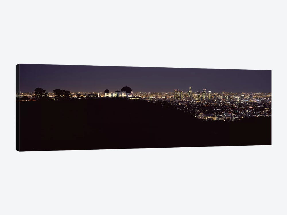 City lit up at night, Griffith Park Observatory, Los Angeles, California, USA 2010 by Panoramic Images 1-piece Canvas Art