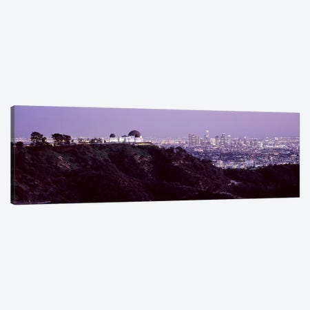 Aerial view of a cityscape, Griffith Park Observatory, Los Angeles, California, USA 2010 #3 Canvas Print #PIM8278} by Panoramic Images Canvas Wall Art