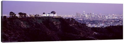 Aerial view of a cityscape, Griffith Park Observatory, Los Angeles, California, USA 2010 #3 Canvas Print #PIM8278