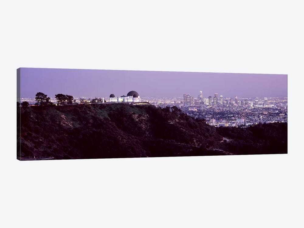 Aerial view of a cityscape, Griffith Park Observatory, Los Angeles, California, USA 2010 #3 1-piece Canvas Art Print