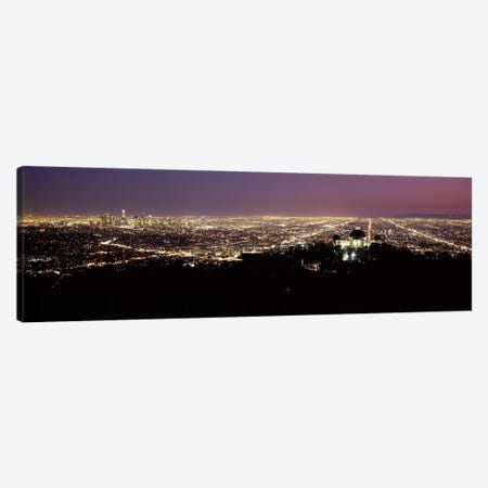 Aerial view of a cityscape, Griffith Park Observatory, Los Angeles, California, USA 2010 #4 Canvas Print #PIM8279} by Panoramic Images Canvas Artwork