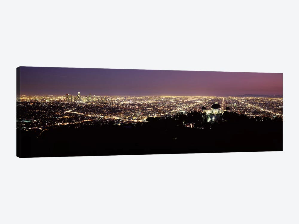 Aerial view of a cityscape, Griffith Park Observatory, Los Angeles, California, USA 2010 #4 1-piece Canvas Artwork