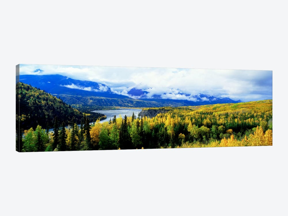Cloudy Forested Landscape Featuring The Yukon River by Panoramic Images 1-piece Canvas Artwork
