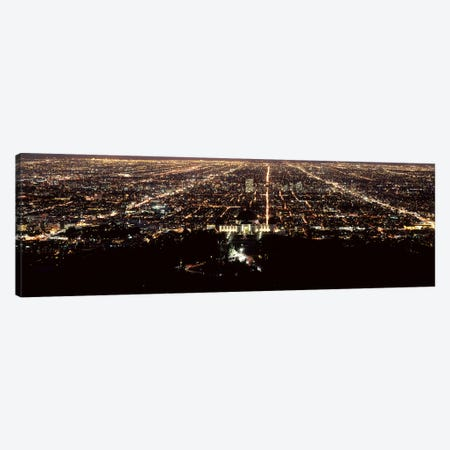 Aerial view of a cityscape, Griffith Park Observatory, Los Angeles, California, USA Canvas Print #PIM8280} by Panoramic Images Art Print
