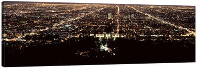Aerial view of a cityscape, Griffith Park Observatory, Los Angeles, California, USA Canvas Print #PIM8280