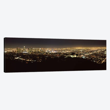 Aerial view of a cityscape, Los Angeles, California, USA 2010 #2 Canvas Print #PIM8281} by Panoramic Images Canvas Art Print