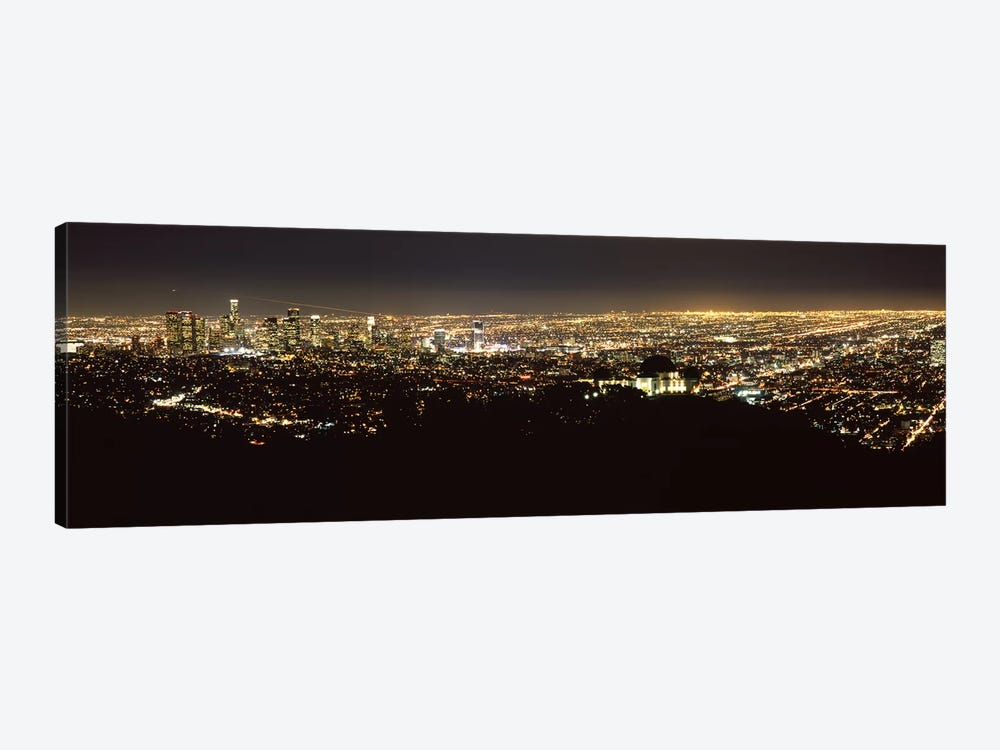 Aerial view of a cityscape, Los Angeles, California, USA 2010 #2 by Panoramic Images 1-piece Canvas Print