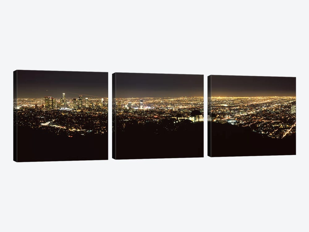 Aerial view of a cityscape, Los Angeles, California, USA 2010 #2 by Panoramic Images 3-piece Art Print