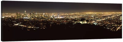 Aerial view of a cityscape, Los Angeles, California, USA 2010 #2 Canvas Art Print