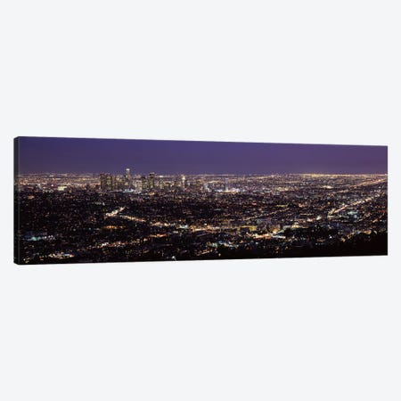 Aerial view of a cityscapeLos Angeles, California, USA Canvas Print #PIM8282} by Panoramic Images Canvas Art Print