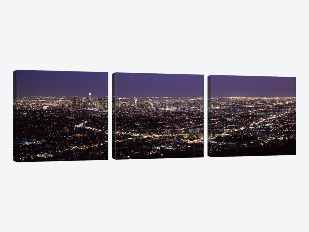 Aerial view of a cityscapeLos Angeles, California, USA by Panoramic Images 3-piece Canvas Art