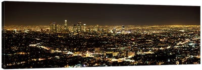 Aerial view of a cityscape, Los Angeles, California, USA 2010 #3 Canvas Art Print