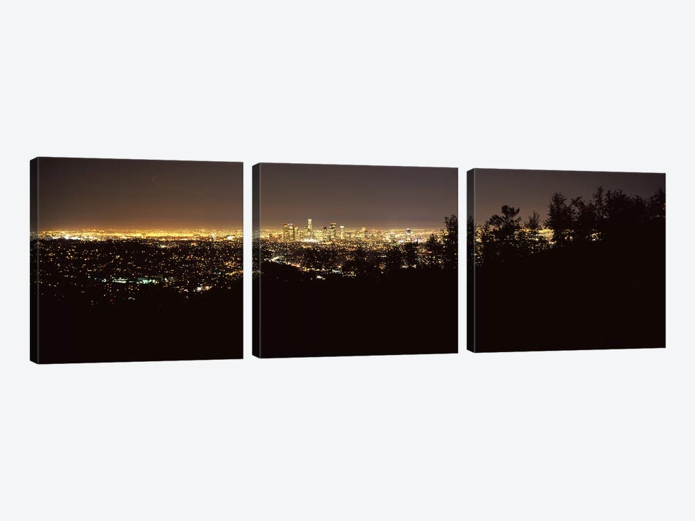 Aerial view of a cityscapeLos Angeles, California, USA 3-piece Canvas Artwork