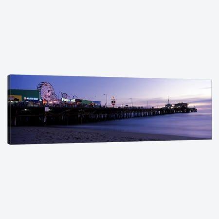 Ferris wheel in an amusement park, Santa Monica Pier, Santa Monica, Los Angeles County, California, USA #2 Canvas Print #PIM8287} by Panoramic Images Canvas Artwork
