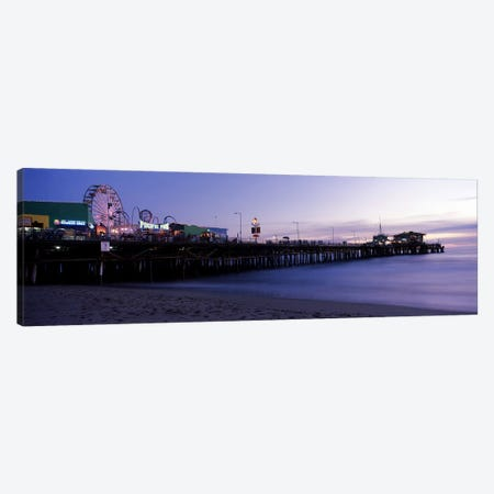 Ferris wheel in an amusement park, Santa Monica Pier, Santa Monica, Los Angeles County, California, USA #2 Canvas Print #PIM8287} by Panoramic Images Canvas Artwork