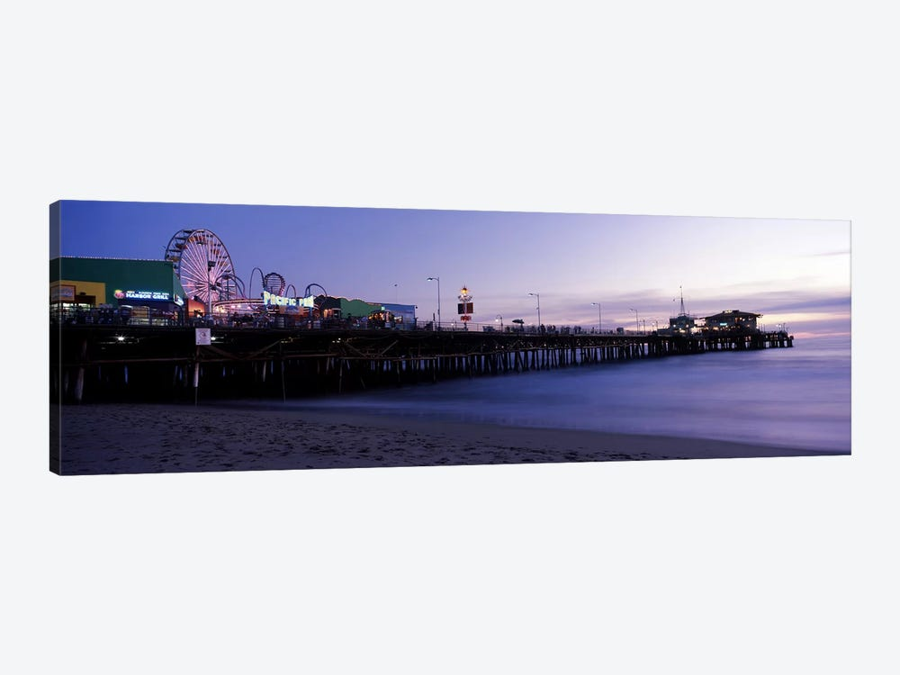 Ferris wheel in an amusement park, Santa Monica Pier, Santa Monica, Los Angeles County, California, USA #2 by Panoramic Images 1-piece Canvas Art Print