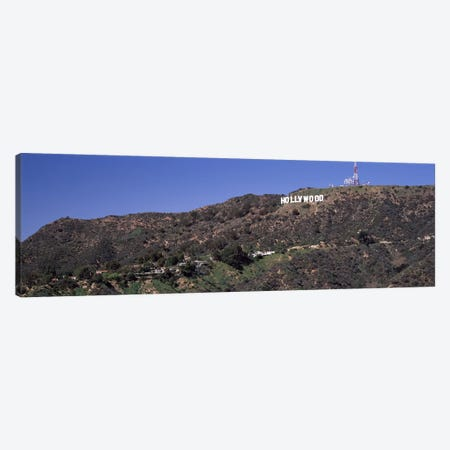 Hollywood sign on a hill, Hollywood Hills, Hollywood, Los Angeles, California, USA Canvas Print #PIM8288} by Panoramic Images Canvas Print