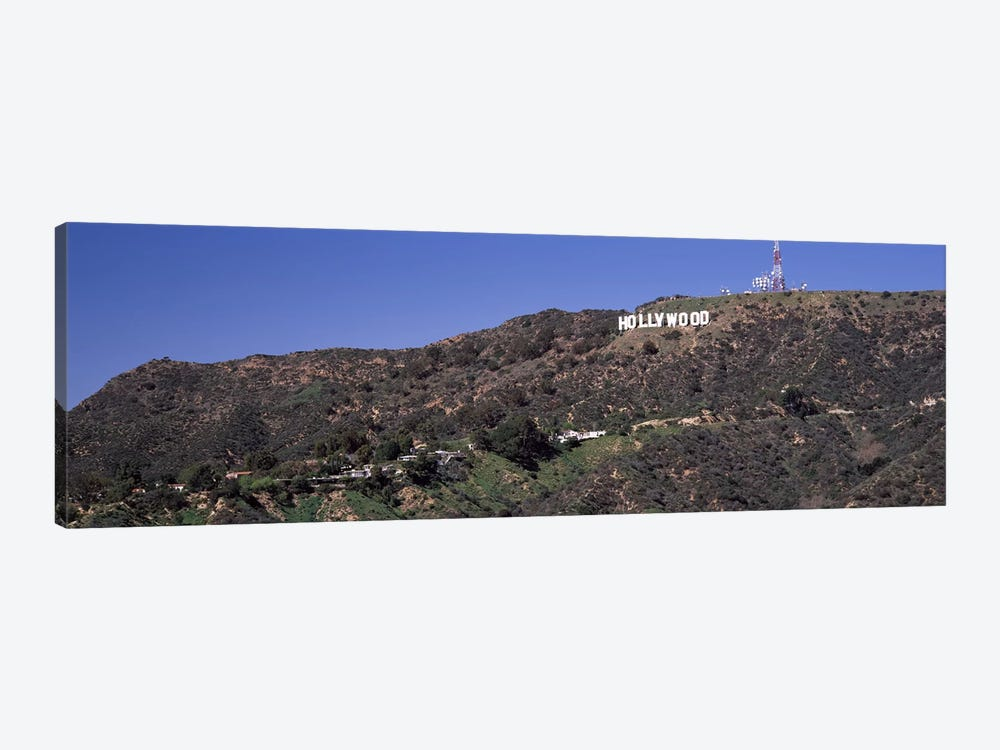 Hollywood sign on a hill, Hollywood Hills, Hollywood, Los Angeles, California, USA by Panoramic Images 1-piece Canvas Artwork