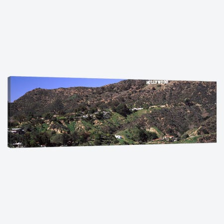 Hollywood sign on a hill, Hollywood Hills, Hollywood, Los Angeles, California, USA #3 Canvas Print #PIM8289} by Panoramic Images Canvas Art Print