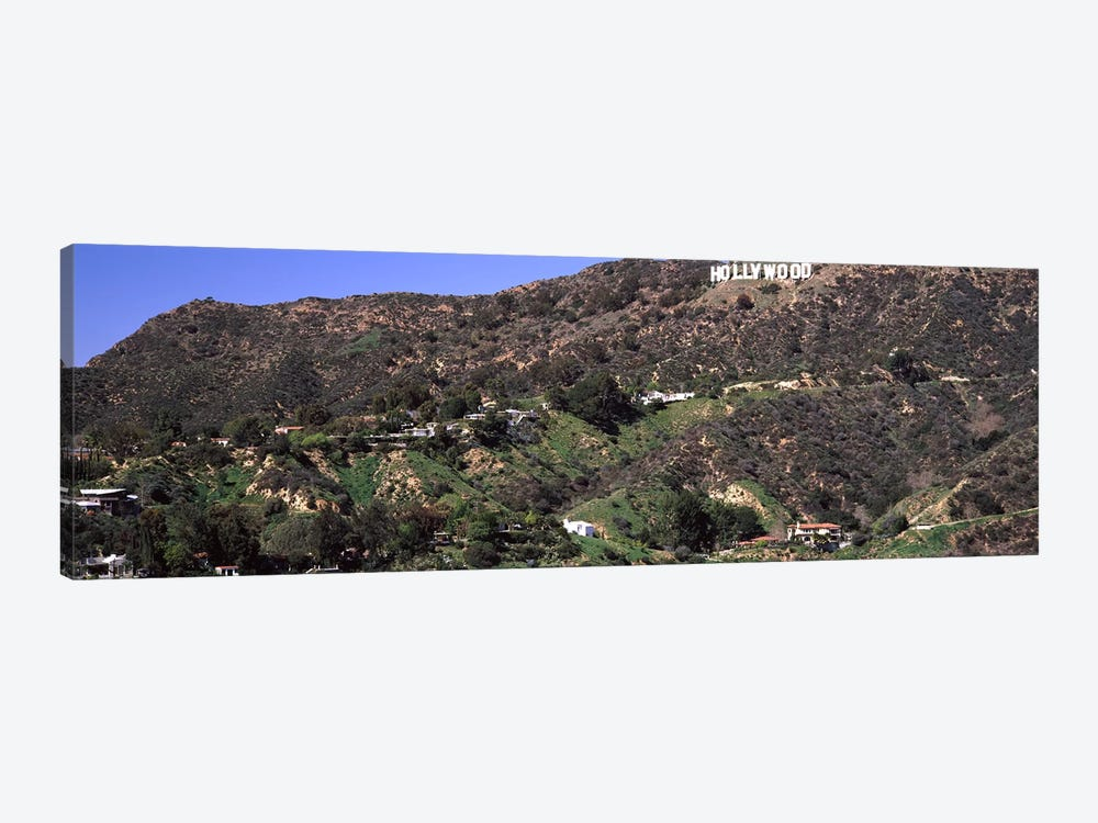Hollywood sign on a hill, Hollywood Hills, Hollywood, Los Angeles, California, USA #3 by Panoramic Images 1-piece Canvas Art Print