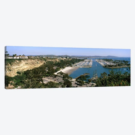 High-Angle View Of Dana Point Harbor, Dana Point, Orange County, California, USA Canvas Print #PIM8291} by Panoramic Images Canvas Wall Art