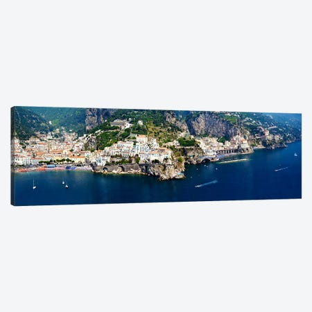 Aerial View, Amalfi Coast, Salerno, Campania, Italy Canvas Print #PIM8294} by Panoramic Images Canvas Print