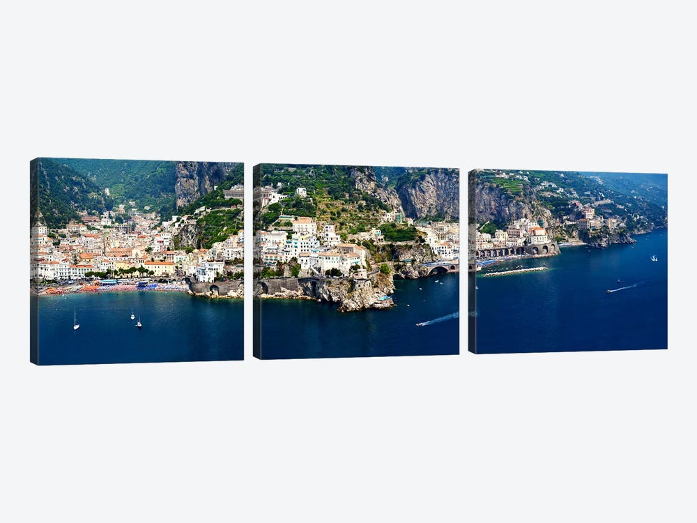 Aerial View, Amalfi Coast, Salerno, Campania, Italy by Panoramic Images 3-piece Art Print